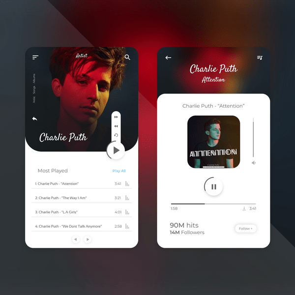 Mobile Music Player UI